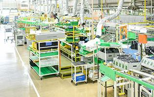 空調ユニットの生産工程